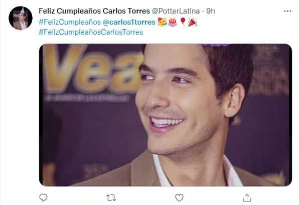 mensajes fans cumpleaños Carlos Torres