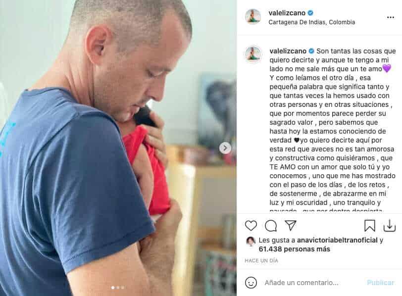 Valentina Lizcano dedicó amoroso mensaje a su pareja con fotos junto a Alma