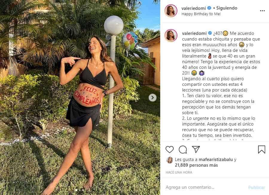 Valerie Domínguez en su cumpleaños número 40