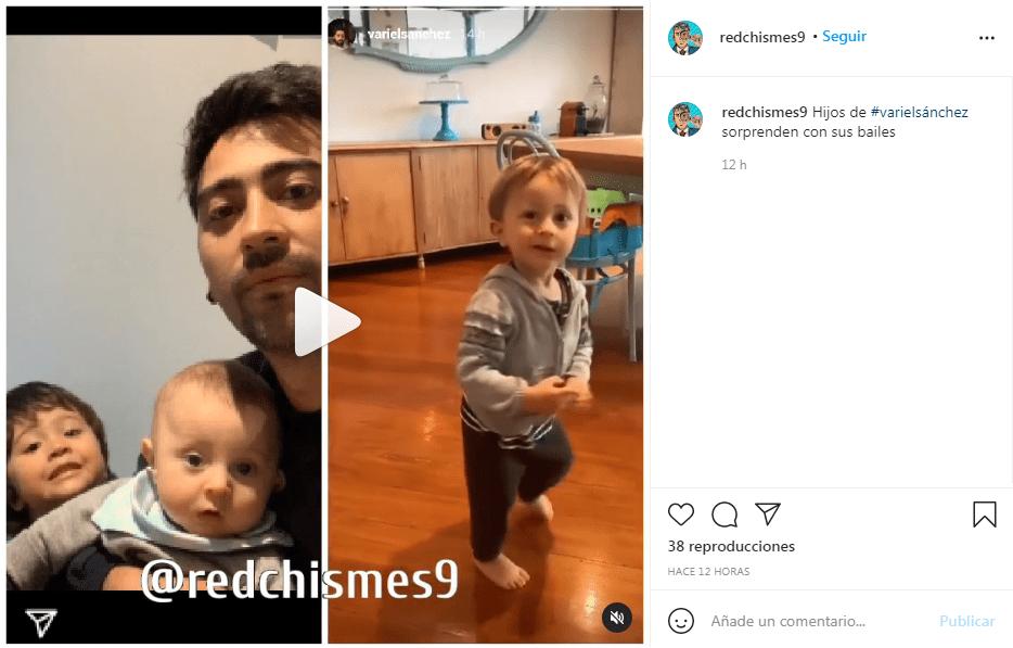 Variel Sánchez video de hijos bailando