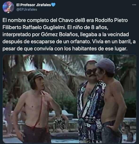 Nombres reales de los personajes de El Chavo del 8