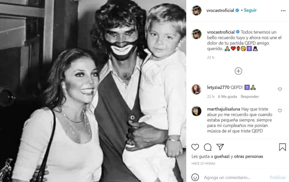 Verónica Castro lo recordó con esta foto.