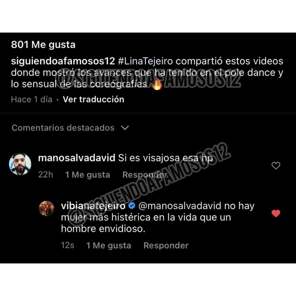Respuesta Vibiana Tejeiro a internauta que criticó pole dance de su hija