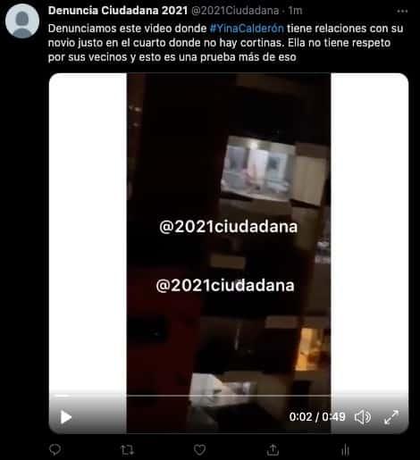 Filtran supuesto video íntimo de Yina Calderón con su novio