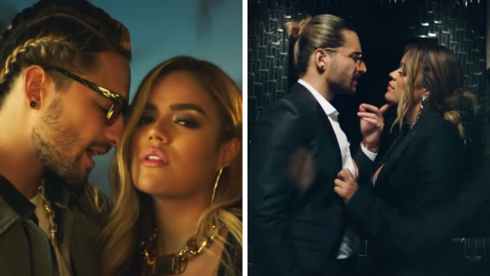 maluma y karol g video creeme detalles