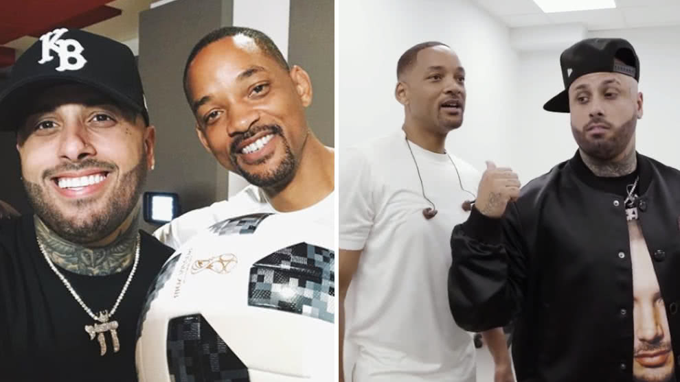 Nicky Jam le da lecciones de canto a Will Smith