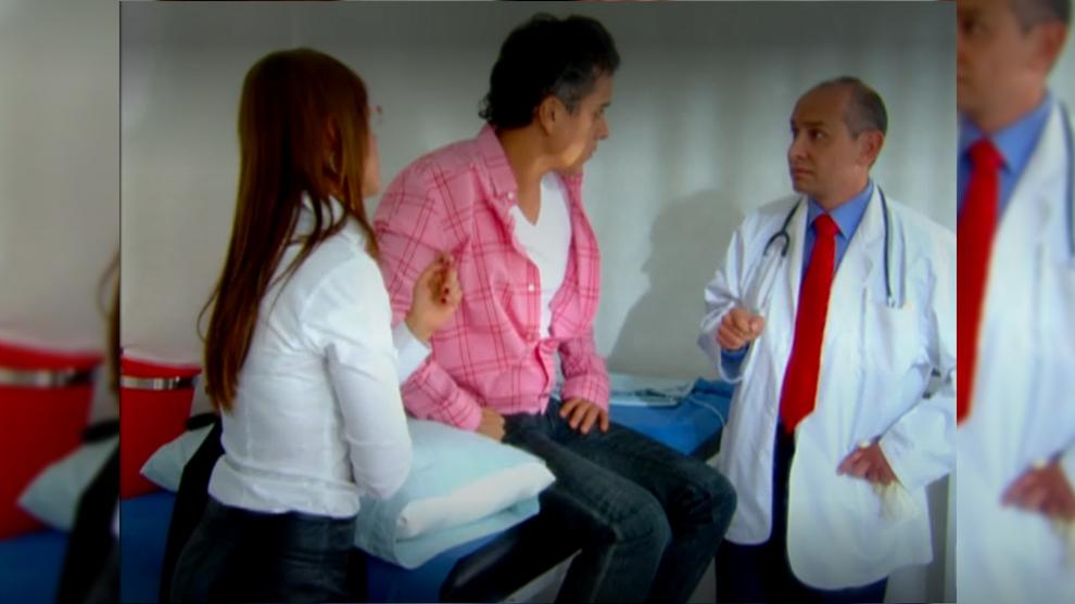 Juan Camilo en el hospital